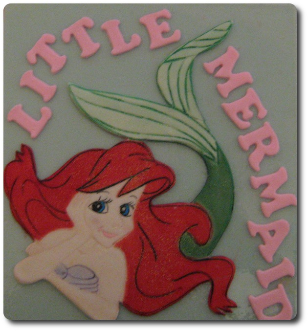large cake top little mermaid set