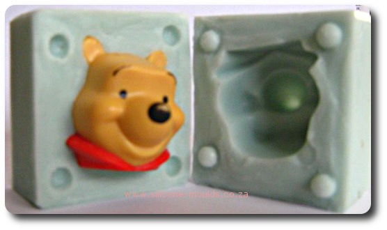 3 D Winnie The Pooh Face Silicone Mold
