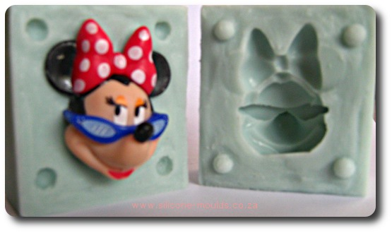3 D Minie Mouse Silicone Mold