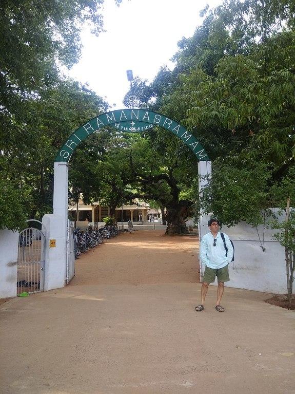 The Entrance of Sri Ramanasramam, where Ramana Maharshi spent his life.