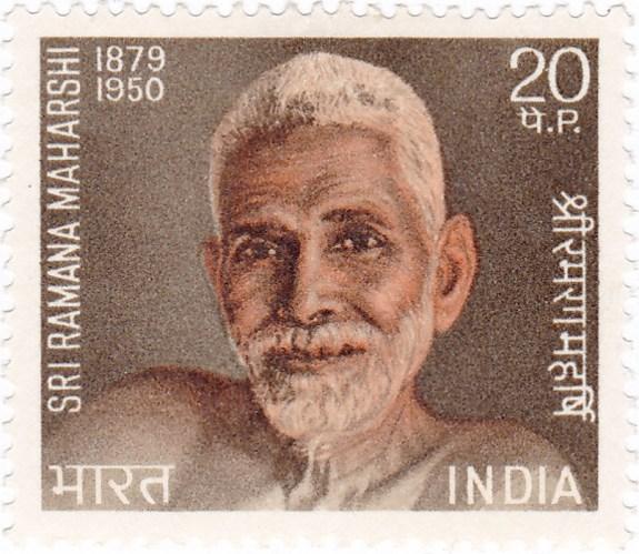 Ramana Maharshi on a 1971 stamp of India
