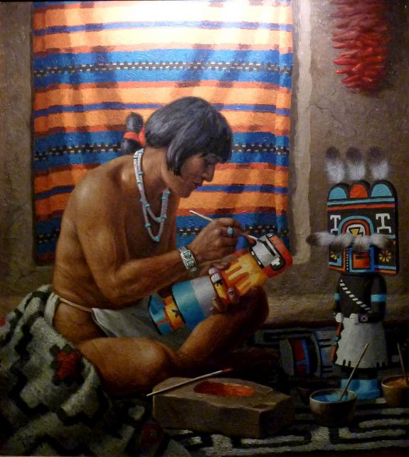 Kachina Painter by Robert Lindneux