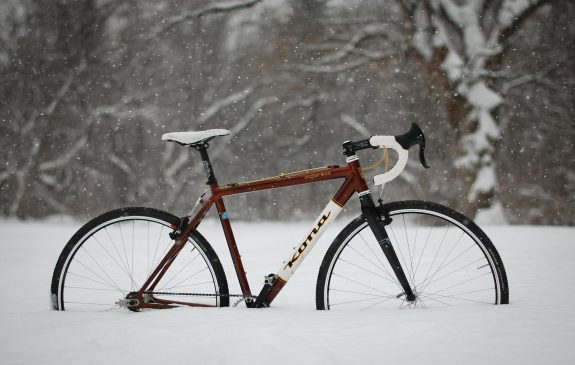 Kona Bike in the snow
