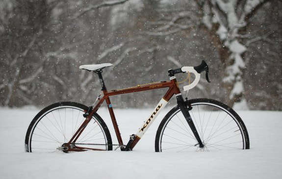 Kona Bike in the snow