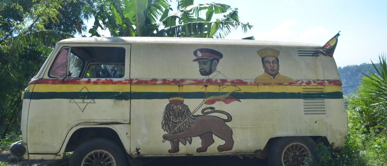 Lion of Judah on a Rasta Van