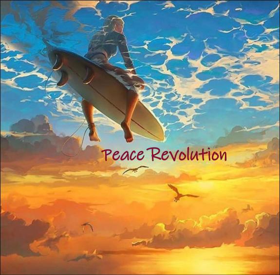 Peace Revolution Surfer Girl