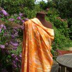 Bespoke handpainted silk yardage