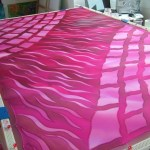 hand painted silk kaftan women's clothing pink fuchsia batik fionastolze silkandart