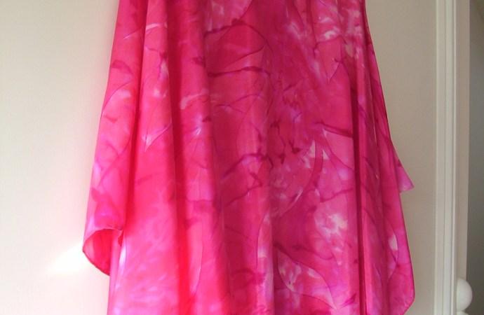 hand painted pink fuchsia silk poncho fionastolze silkandart