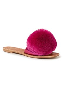 Latino slipper met pompon