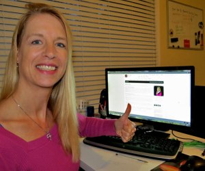 Working Silke's Avon business from home