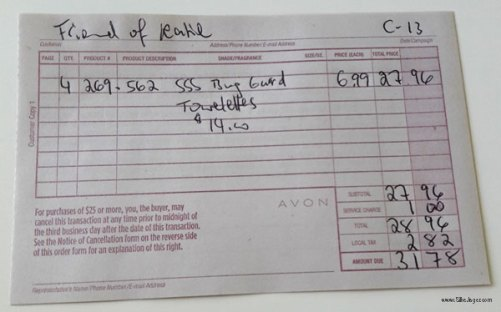 How To Fill Out An Avon Receipt