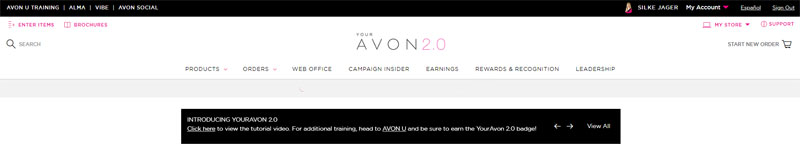 Pay Avon with Your Avon 2.0