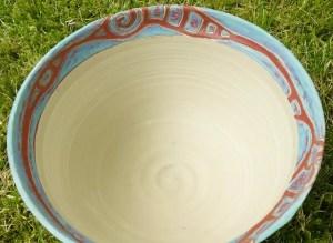 Keramik-Schale Sgraffito-Technik