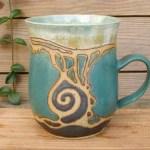 Keramik-Tasse Intarsien