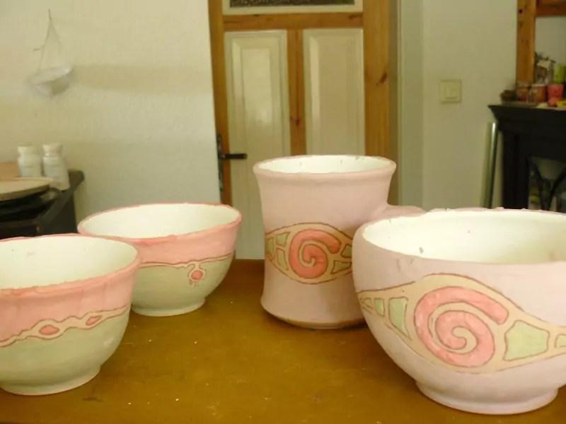 Fertig glasierte Keramik