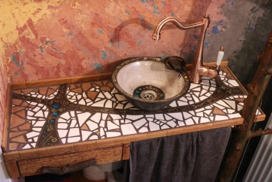 Mosaik-Waschtisch