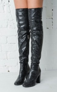 large_Snakeskin_Effect_Knee_High_Boots_Black_Brandy_1