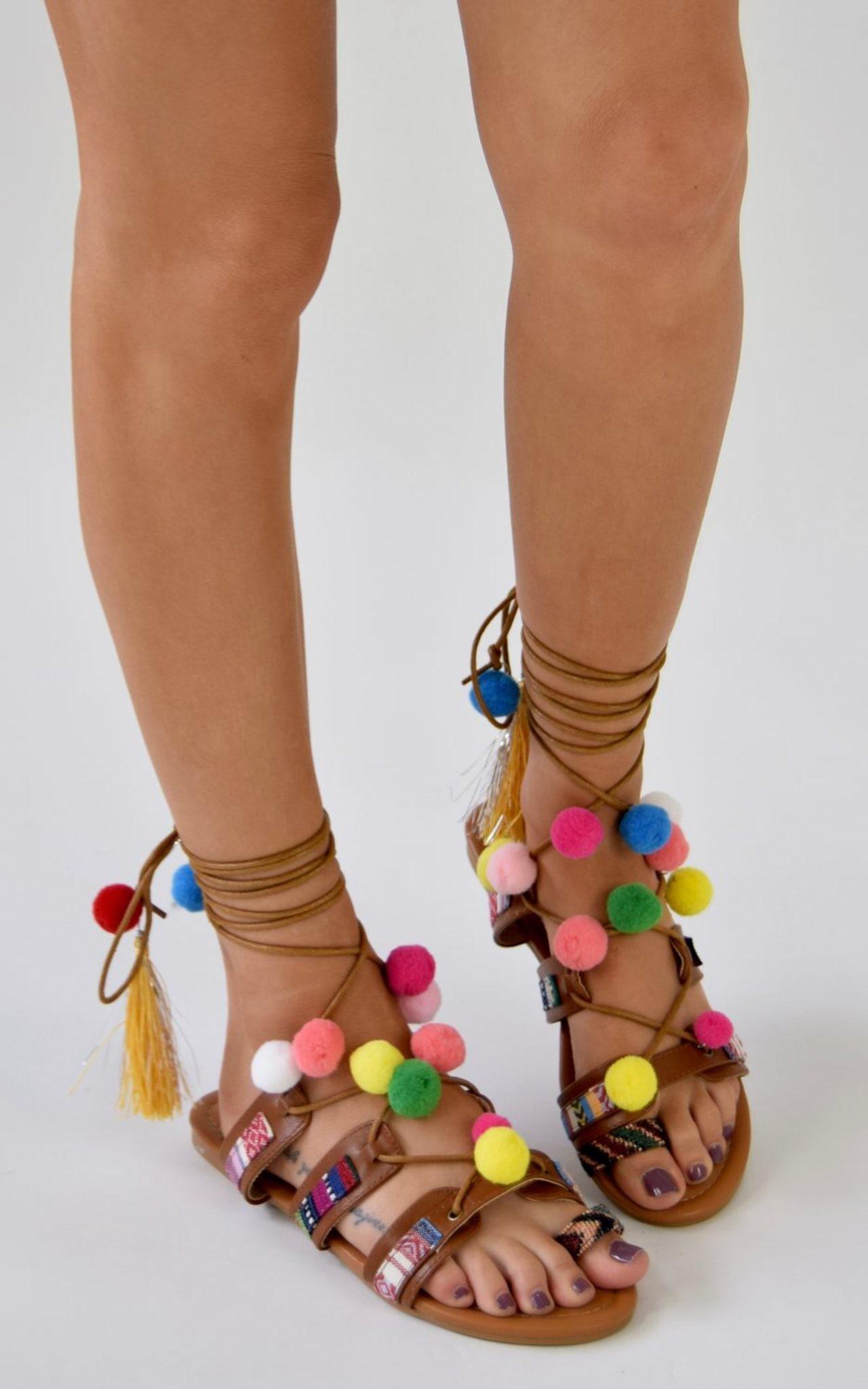 xlarge_BOHO_GIRL_Lace_Up_Pom_Pom_Sandals_-_Camel_-_AJ_Voyage_-_2
