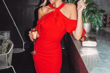 red-halterneck-midi-dress