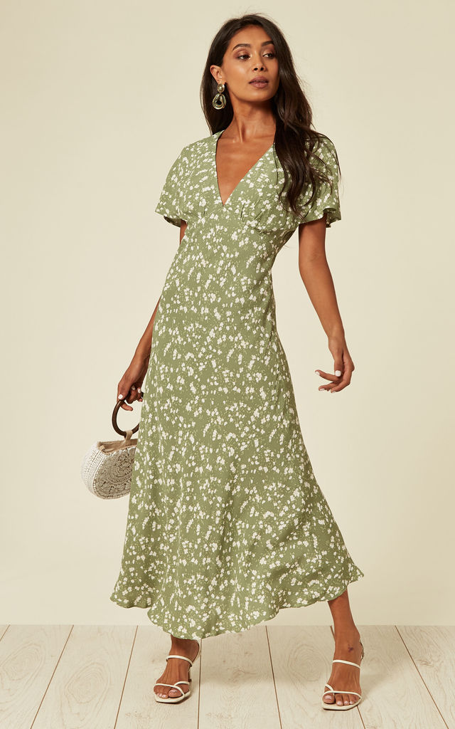 Midi dress in green