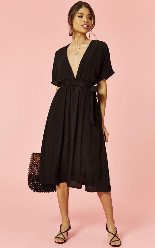 50% off black midi dress