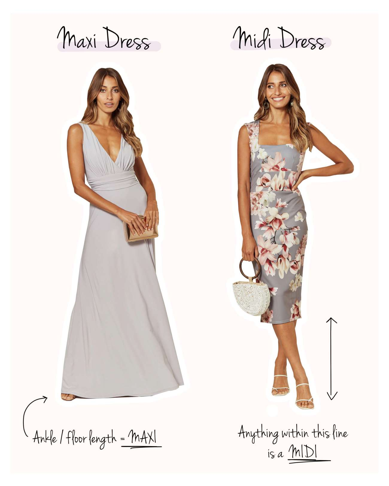 The Difference Between a Maxi Dress and a Midi Dress