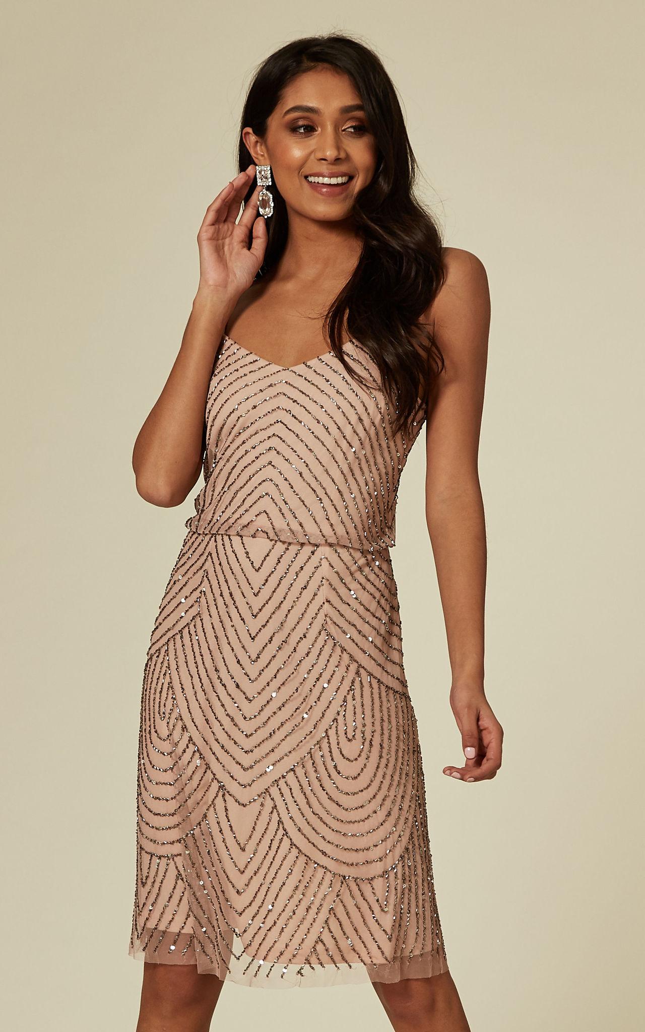 Sequin mini dress in pink