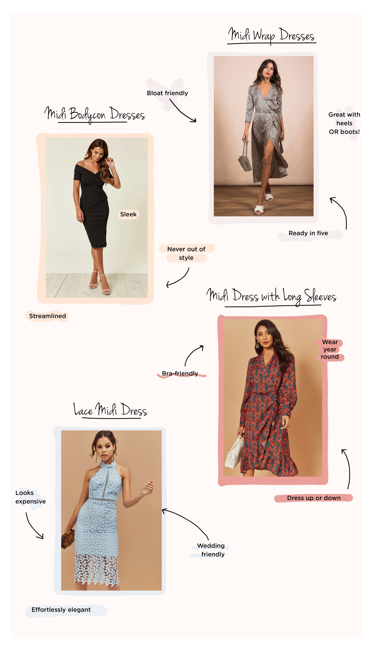 Types of midi dress