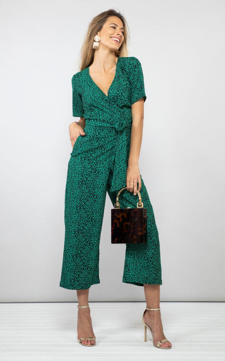 Atlantis jumpsuit in green leopard