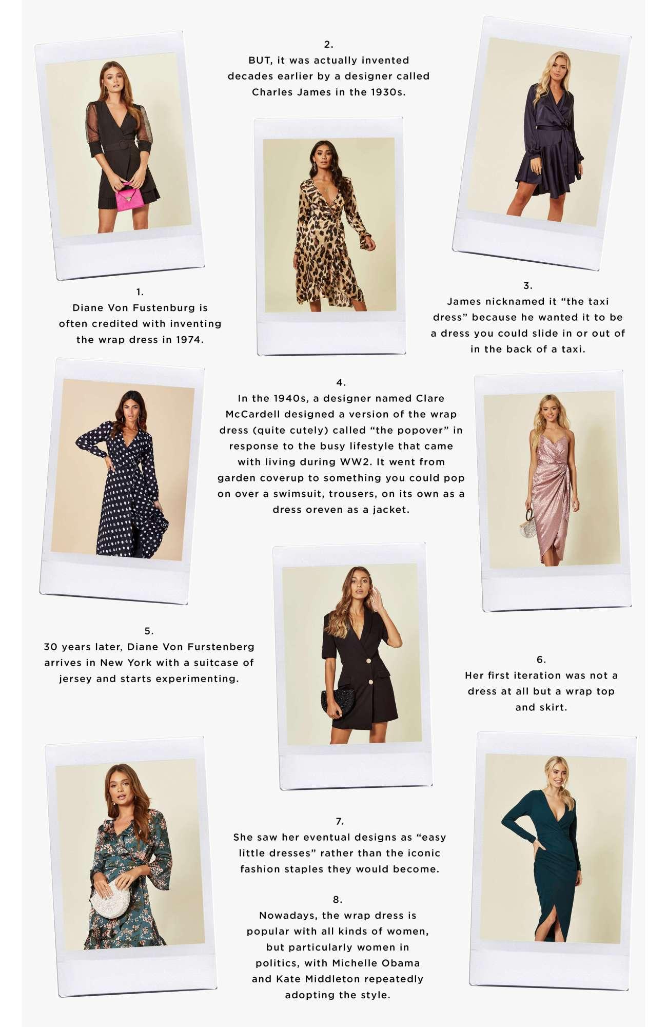 Timeline of wrap dresses