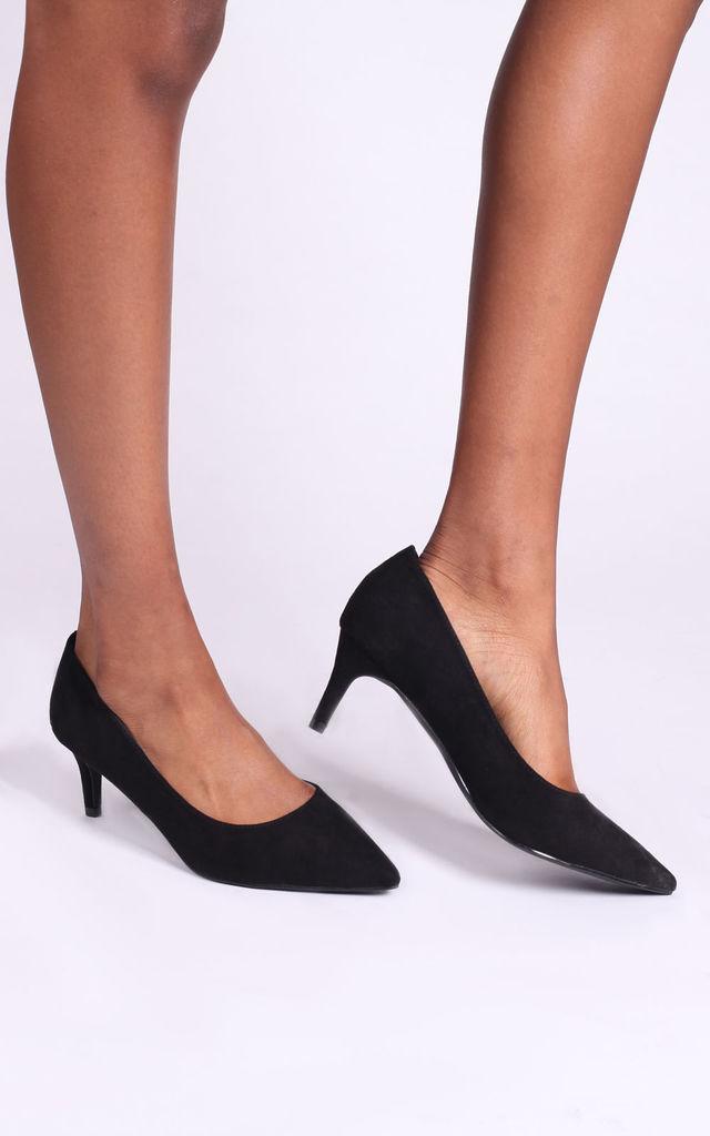 Lucinda Low Heel Court Shoes in Black