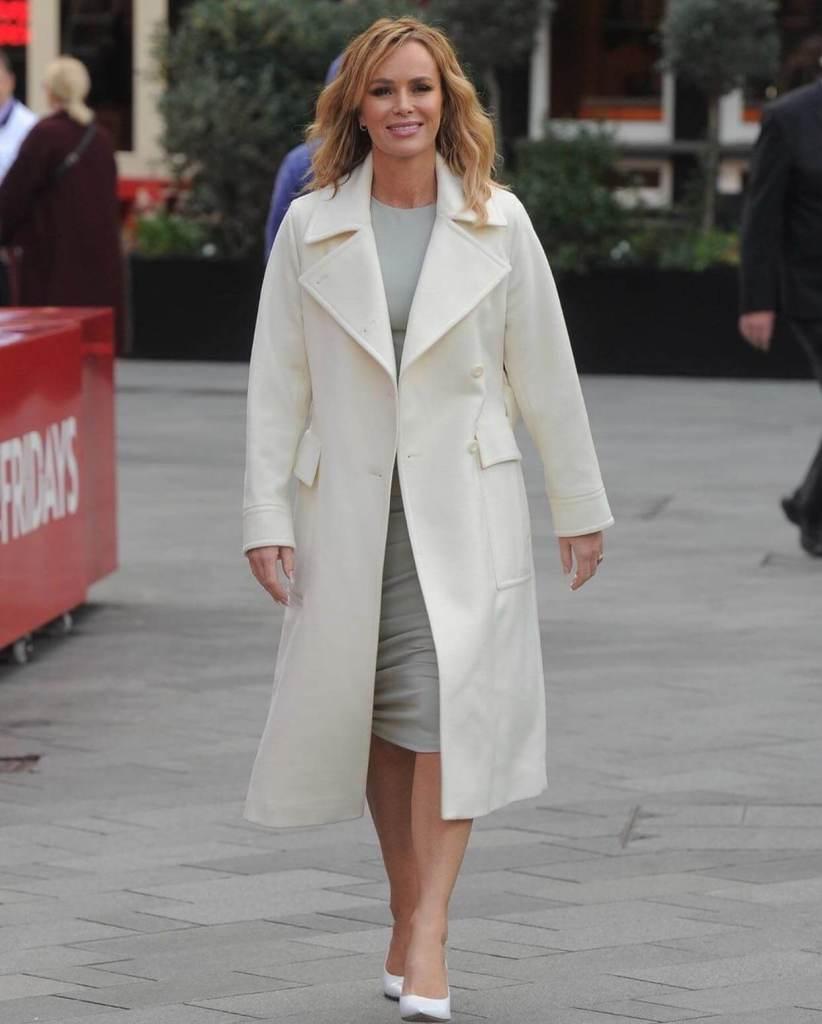 Amanda Holden Wears SilkFred Sage Green Midi Dress
