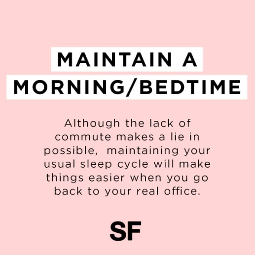Tips For Working At Home Sleep Schedule