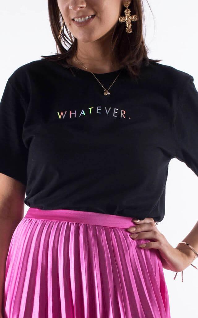 Whatever Slogan Tshirt in Black