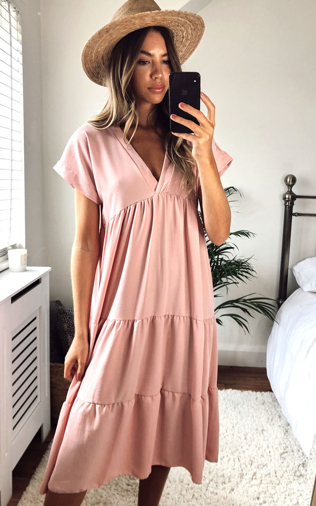 v-neck-tiered-midi-smock-dress-in-blush-summer-day-dress