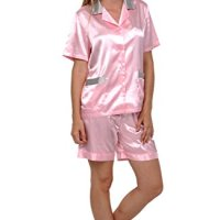 b405b350b2 Del Rossa Women s Short Sleeve Satin Pajama Set with Shorts