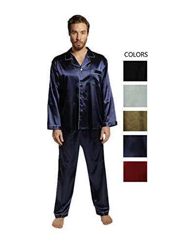 Mens Silk Satin Pajamas Set Pajamas For Men Big And Tall Sleepwear XMAS Gift