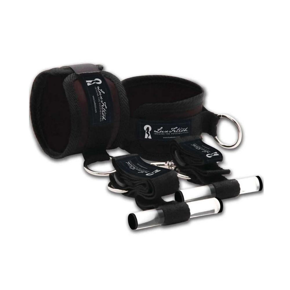 Lux Fetish Closet Cuffs Black