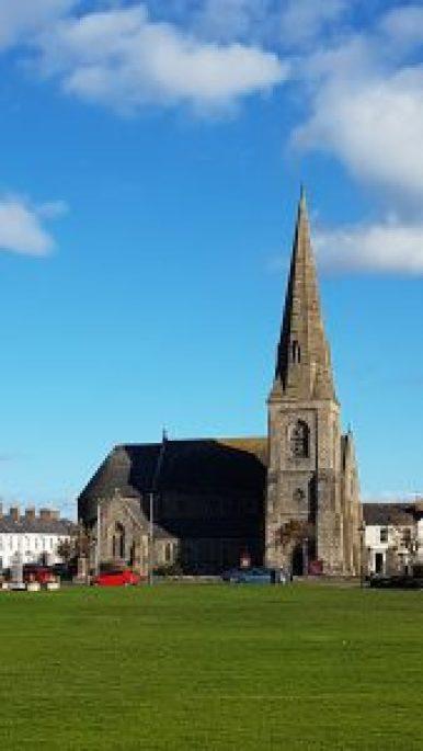 christ church silloth and blue sky