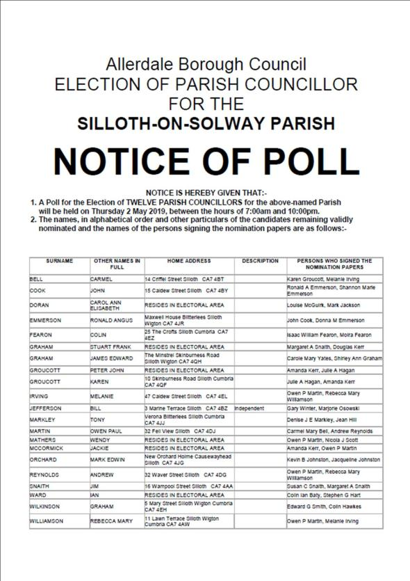 notice of poll page 1