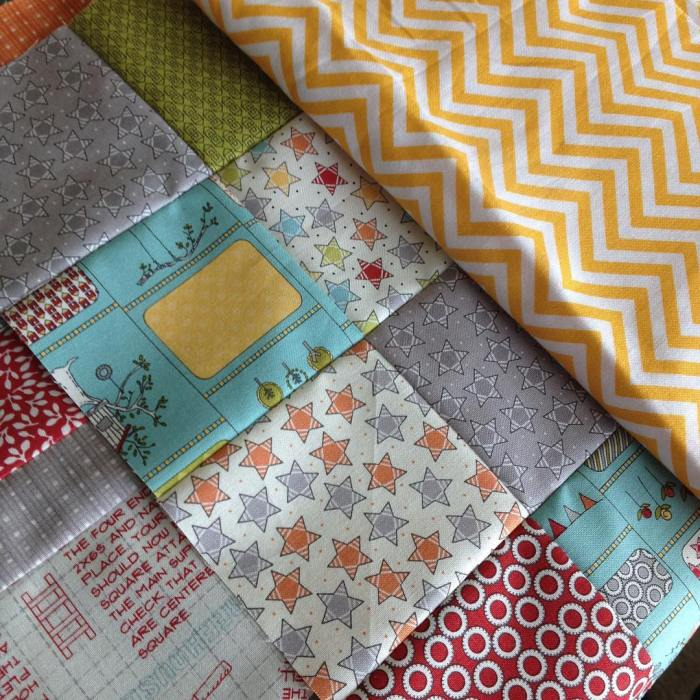 Sneaky peek of my #wippost on the blog today. @sweetwaterfabric @modafabrics #treehousefabric happy Wednesday!