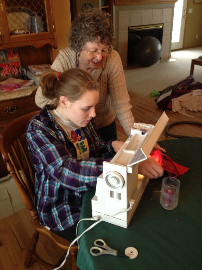 sewing with gramma