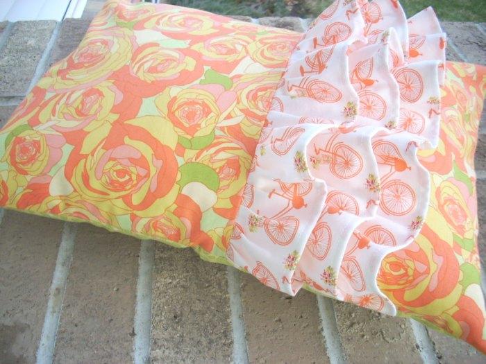acreage ruffled pillow