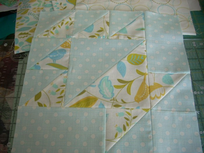 wing and leaf mini quilt