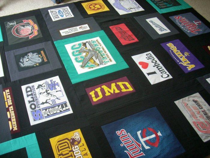 t-shirt quilt finish