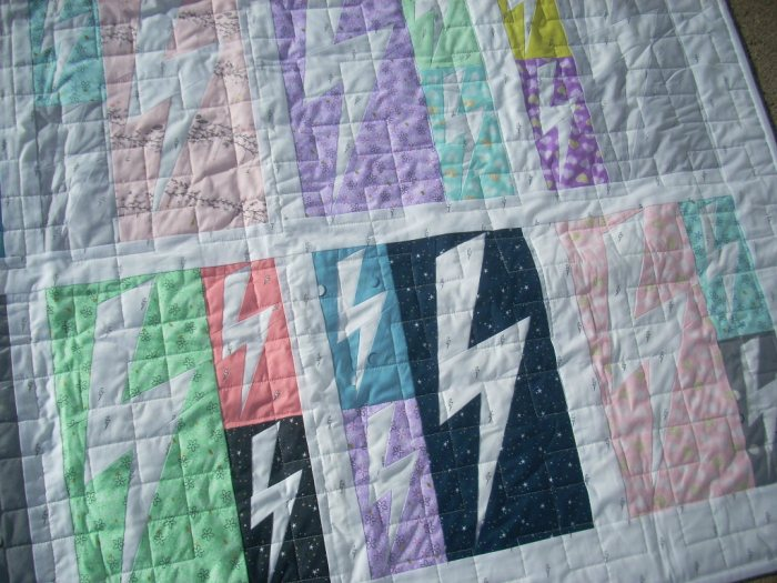 lightning crashes quilt