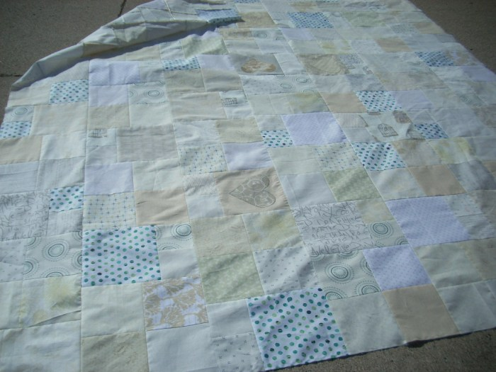 wedding quilt top finish