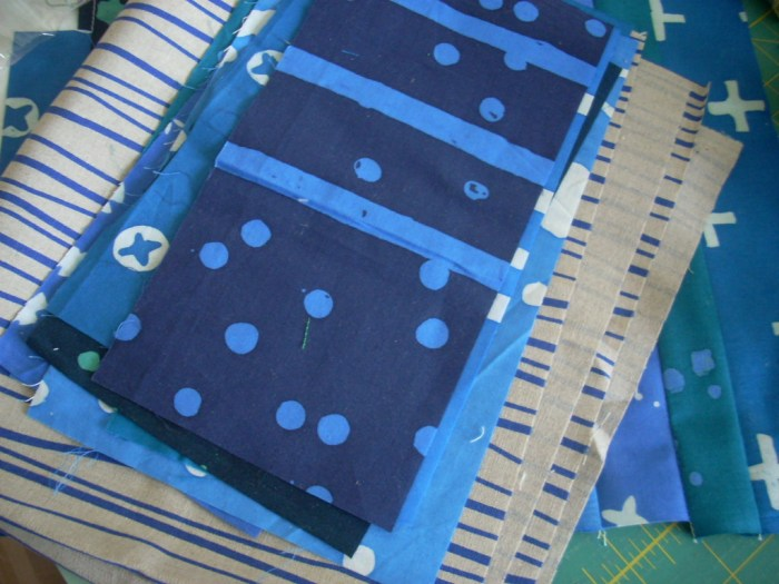blue indigo sewing