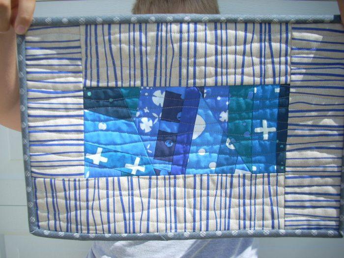 AG blue indigo mini quilt